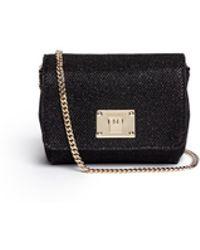 Jimmy Choo Ruby' Mini Lamé Glitter Chain Bag - Lyst