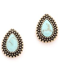 Samantha Wills - Endless Love Stud Earrings - Antique Gold/blue - Lyst