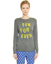 Markus Lupfer Fun For Ever Intarsia Wool Sweater - Lyst