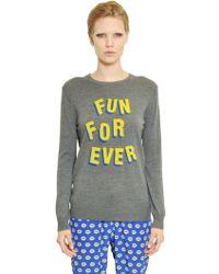 Markus Lupfer Fun For Ever Intarsia Wool Sweater - Lyst