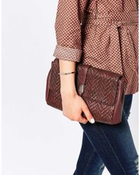 Warehouse - E Textured Tab Clutch - Lyst