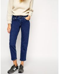 Asos Thea Girlfriend Jeans In Pure Vintage Wash - Lyst