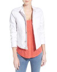 Jag Jeans - 'dixie' Band Collar Denim Jacket - Lyst
