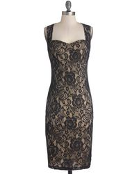 Lovely Day Fashion Sophisticated Soiree Dress In Noir - Lyst