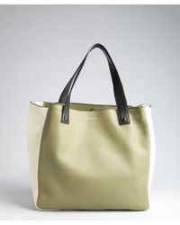 Marc Jacobs - Olive And Ivory Leather Tote - Lyst