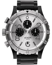 Nixon Gunmetal 48-20 Chrono Watch silver - Lyst