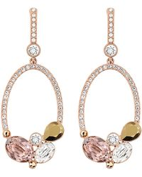 Swarovski Branch Rose Gold Tone and Crystal Drop Earrings - Lyst