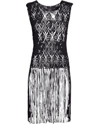 H&M Black Lacy Top - Lyst
