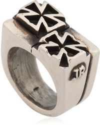 John Richmond - Double Cross Ring - Lyst