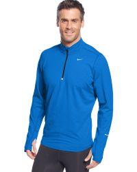 Nike Pullover Element Half Zip Shirt - Lyst