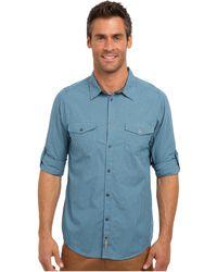 Calvin Klein Jeans Micro Plaid Ls Woven Shirt - Lyst