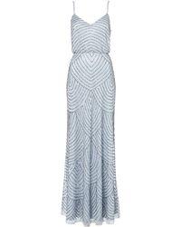Adrianna Papell Art Deco Beaded Dress - Lyst