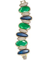 Lauren by Ralph Lauren Stone Bracelet green - Lyst