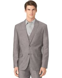 Calvin Klein Classic Fit Fine Slub Knit Jacket - Lyst