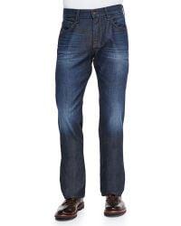 7 For All Mankind Austyn Prism Straight-Leg Jeans - Lyst
