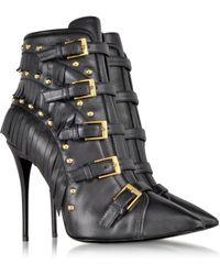 Giuseppe Zanotti Yvette Jeti Black Leather Ankle Boot - Lyst