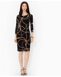Lauren by Ralph Lauren Boatneck Jersey Dress - Lyst
