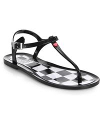 Love Moschino Jelly Thong Sandals black - Lyst