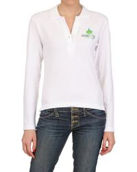 Dynamo Camp Long Sleeved Stretch Cotton Pique Polo - Lyst
