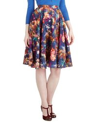ModCloth Ikebana For All Skirt in Lights - Lyst
