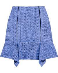 Michael Van Der Ham Mini Peplum Skirt - Lyst
