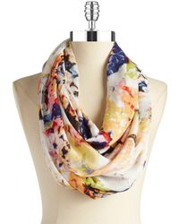 Lord & Taylor - Floral Infinity Scarf - Lyst