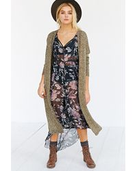 Silence + Noise Silence  Noise Open-front Maxi Cardigan - Lyst