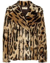 Michael by Michael Kors Leopardprint Faux Fur Coat - Lyst