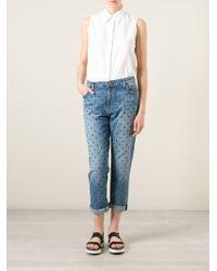 Current/Elliott Polka Dot Jeans - Lyst