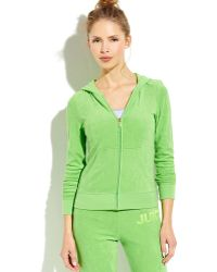 Juicy Couture Repeat Terry Cloth Zip-up Hoodie - Lyst