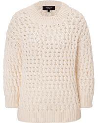 Derek Lam Long Sleeve Crew Neck Sweater - Lyst