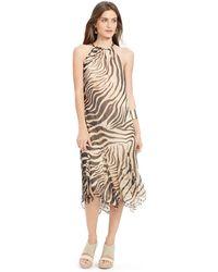 Ralph Lauren Animal-Print Halter Dress - Lyst