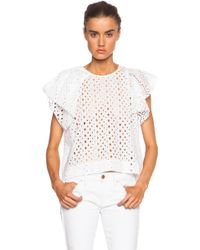Isabel Marant Vlady French Embroidery Cotton Top - Lyst