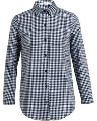 Carven Checked Cotton Shirt - Lyst