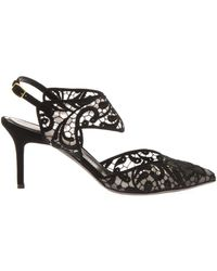 Nicholas Kirkwood Leda Black Slingback Embroidered Pumps - Lyst