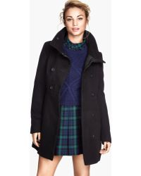 H&M Doublebreasted Coat - Lyst