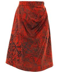 Vivienne Westwood Anglomania Survival Stave Laceprint Skirt - Lyst