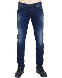 Diesel Jeans Sleenker Denim Skinny Used Stretch With Micro Breaks - Lyst