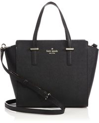 Kate Spade Cedar Street Saffiano Leather Satchel black - Lyst
