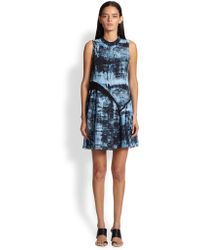 Proenza Schouler Spray-Print Silk Dress - Lyst