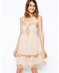 Asos Swing Cami Dress With Lace Inserts - Lyst