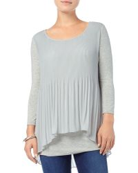 Phase Eight - Betsy Pleated Split Back Top - Lyst