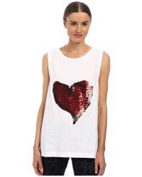 Vivienne Westwood Anglomania Soley Vest Heart Sequins - Lyst