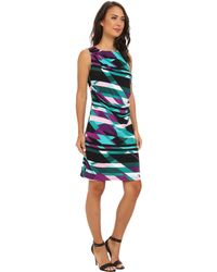 Calvin Klein Sl Ruched Dress - Lyst