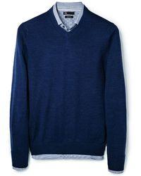 Mango Silk Wool Blend Sweater - Lyst