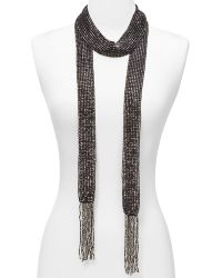 "ABS By Allen Schwartz Beaded Wrap Necklace, 70"" - Lyst"