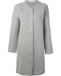 T By Alexander Wang Collarless Jersey Coat - Lyst
