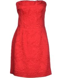 Dolce & Gabbana Short Dress red - Lyst