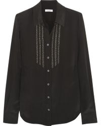 Equipment Brett Embellished Washedsilk Shirt - Lyst