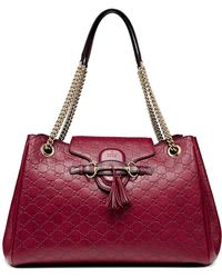 Gucci Emily Medium Ssima Shoulder Bag - Lyst